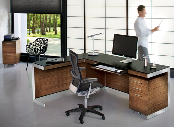 Sequel office desk by BDI